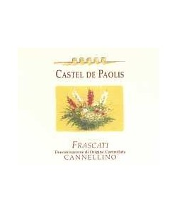 Etichetta Frascati DOC Castel De Paolis Cannellino 2004