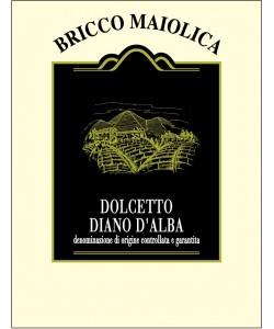 Etichetta Dolcetto Diano d'Alba DOCG Bricco Maiolica 2013