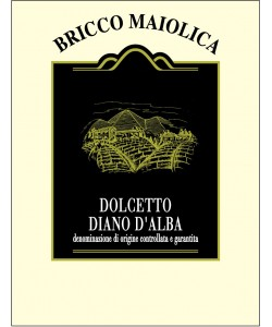 Etichetta Dolcetto Diano d'Alba DOCG Bricco Maiolica 2012