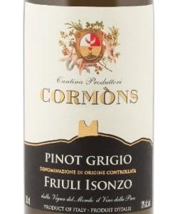 Etichetta Friuli Isonzo DOC Cormòns Pinot Grigio 2013