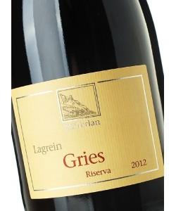 Etichetta Alto Adige DOC Cantina Terlan Lagrein Gries 2012