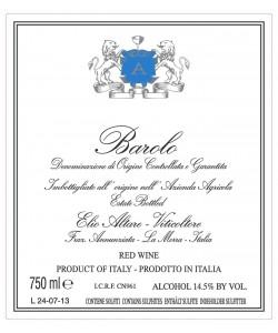 Etichetta Barolo DOCG Elio Altare 2011