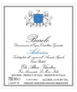 Etichetta Barolo DOCG Elio Altare Arborina 2009