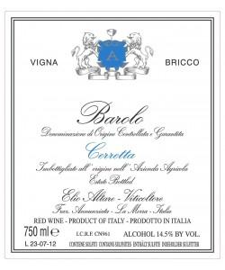 Etichetta Barolo DOCG Elio Altare Cerretta Vigna Bricco 2008
