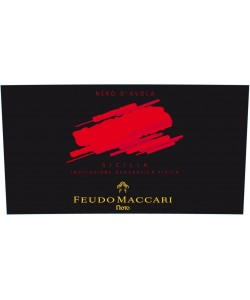 Etichetta Sicilia IGT Feudo Maccari Nero d'Avola 2013