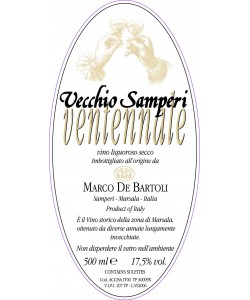 Vino Liquoroso Secco Marco De Bartoli Vecchio Samperi Ventennale