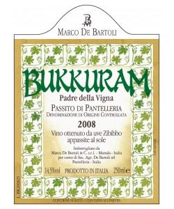 Passito di Pantelleria DOC Marco De Bartoli Bukkuram Padre Della Vigna