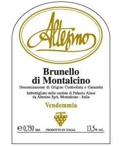 Etichetta Brunello di Montalcino DOCG Altesino 2010