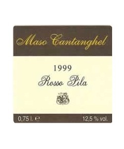 Trentino DOC Maso Cantanghel Cabernet Sauvignon Pila Rosso 1999