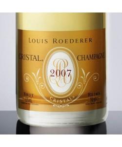 Etichetta Champagne Louis Roederer Brut Cristal 2007