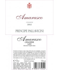 Lazio IGT Principe Pallavicini Cesanese Amarasco 2013