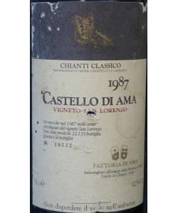 Chianti Classico DOCG Castello di Ama Vigneto San Lorenzo 1987