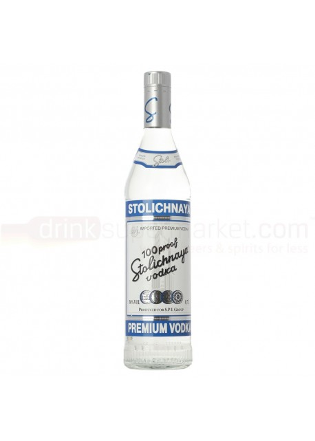 Vodka Stolichnaya 100 Proof Premium Blue