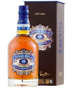 Scotch Whisky Chivas Regal 18 Years Old Gold Signature Blended