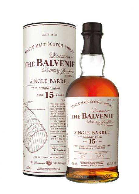 Scotch Whisky The Balvenie 15 Years Old Single Malt Single Barrel