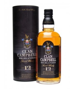 Scotch Whisky Clan Campbell Highlander 12 Years Blended