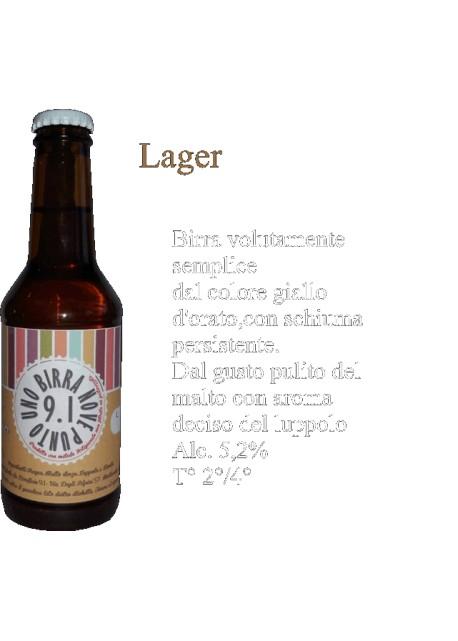 Birra Lager Birrificio 9.1
