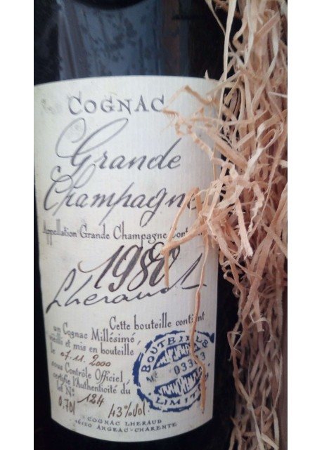 Cognac Grande Champagne Lheraud 1980
