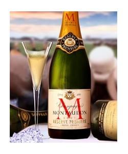 Champagne Montaudon Brut con Borsa Portasciabola