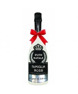 Spumante Astoria 0,75 l - Bottiglia personalizzata per auguri di Buon Natale e dedica