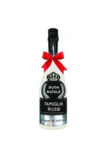 Immagini Con Scritte Di Buon Natale.Bottiglia Personalizzata Con Swarovski Spumante Astoria Auguri Di Natale