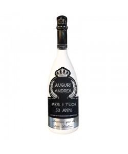 Bottiglia personalizzata con Swarovski Spumante Brut Astoria - Auguri di Compleanno con auguri, nome, personalizzazione e dedica