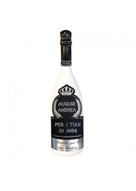 Bottiglia Personalizzata Con Swarovski Spumante Brut Astoria