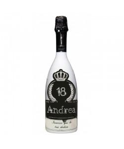 Bottiglia personalizzata con Swarovski Spumante Brut Astoria - Auguri di Compleanno con età, nome e dedica