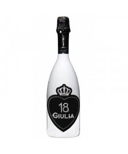 Bottiglia personalizzata con Swarovski Spumante Astoria - Auguri di Compleanno con cuore