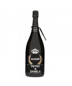 Magnum personalizzato con Swarovski Prosecco DOC De Faveri Extra Dry - Auguri di Compleanno con età e nome