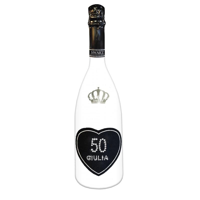 Bottiglia Personalizzata Spumante Con Swarovski Auguri Di