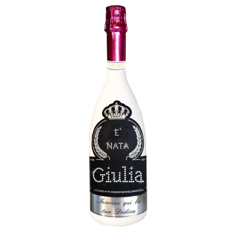 Bottiglia Personalizzata Con Swarovski Spumante Auguri