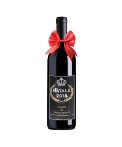 Bottiglia personalizzata con Swarovski Rosso di Toscana NATALE 2018