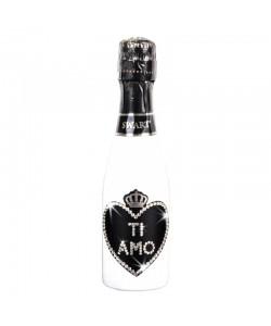 Bottiglia personalizzata con Swarovski - San Valentino