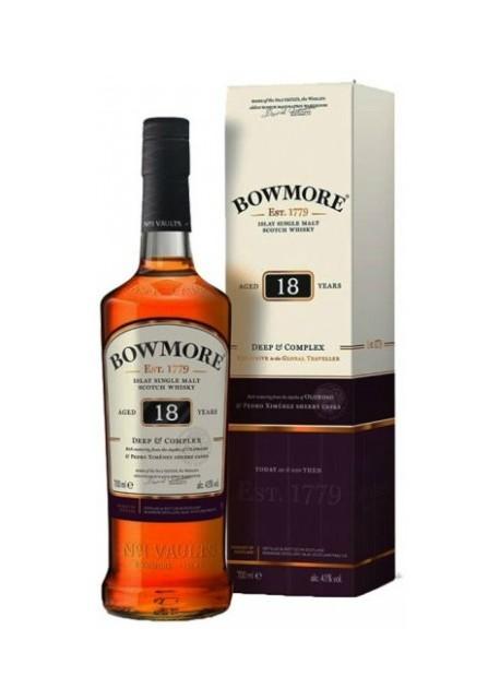 Whisky Bowmore Single Malt 18 anni Deep & Complex 0,70 lt.