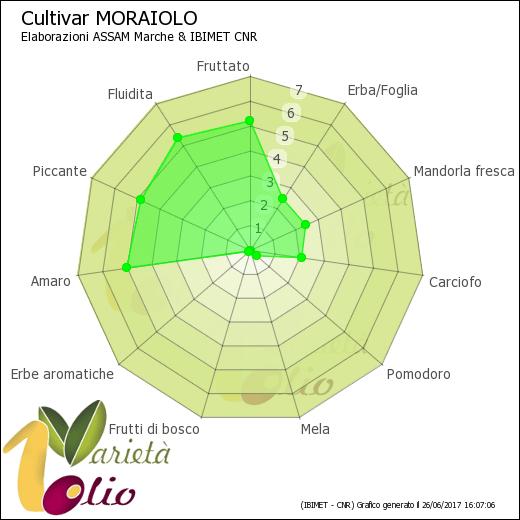 Aromi identificativi della cultivar Moraiolo