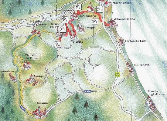 Strada del vino d 39 abruzzo hello taste for Design della mappa di casa